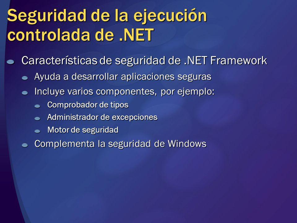 Seguridad de la ejecución controlada de .NET