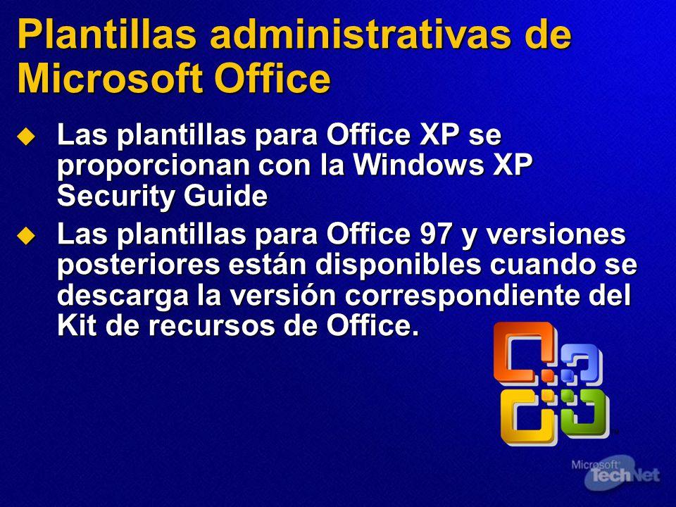 Plantillas administrativas de Microsoft Office