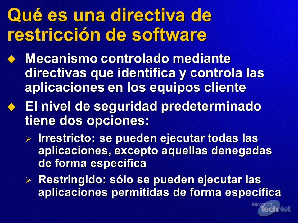 Qué es una directiva de restricción de software