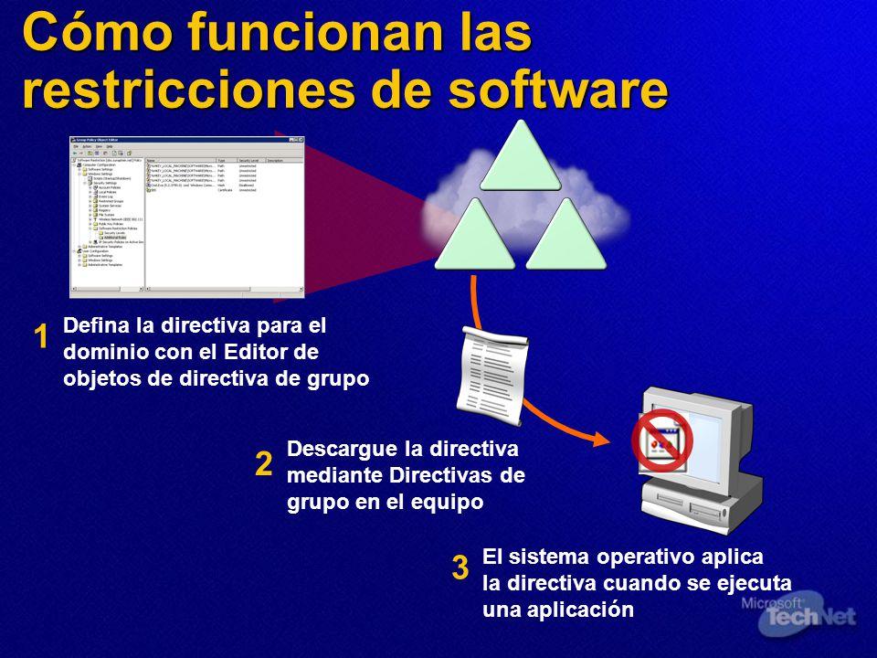 Cómo funcionan las restricciones de software