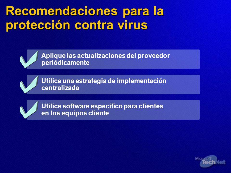 Recomendaciones para la protección contra virus