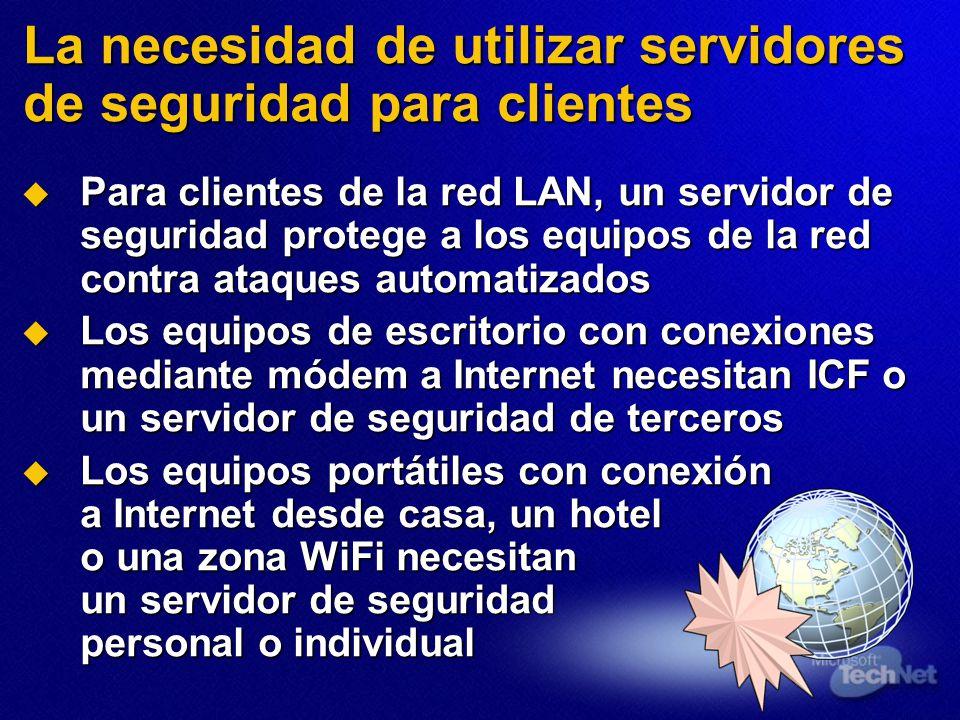La necesidad de utilizar servidores de seguridad para clientes