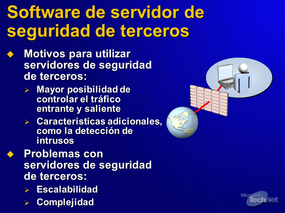 Software de servidor de seguridad de terceros
