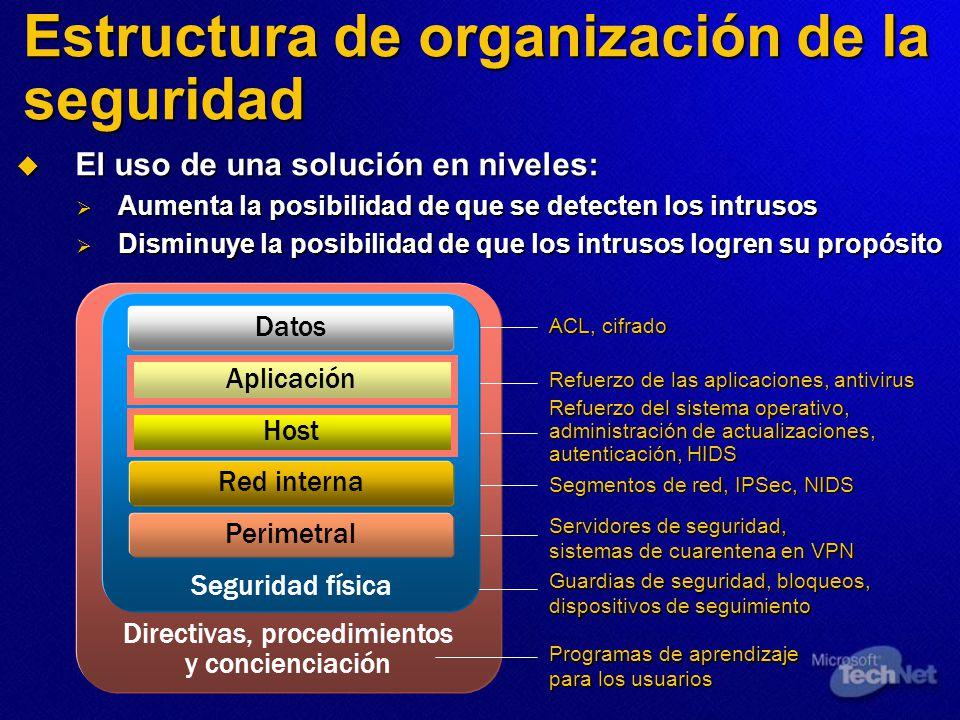Estructura de organización de la seguridad
