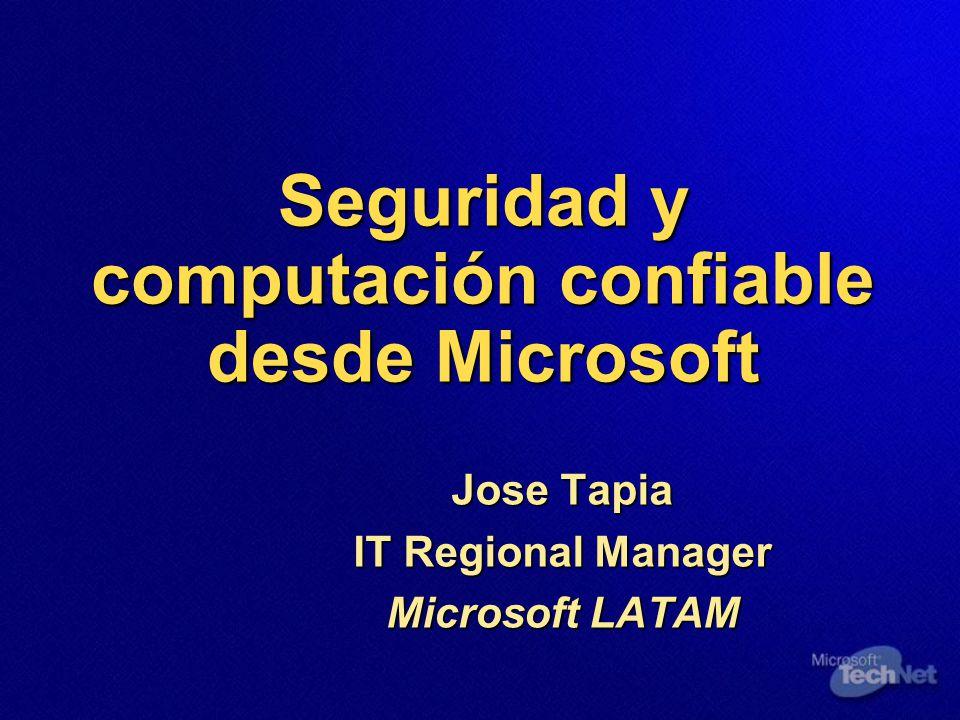 Seguridad y computación confiable desde Microsoft