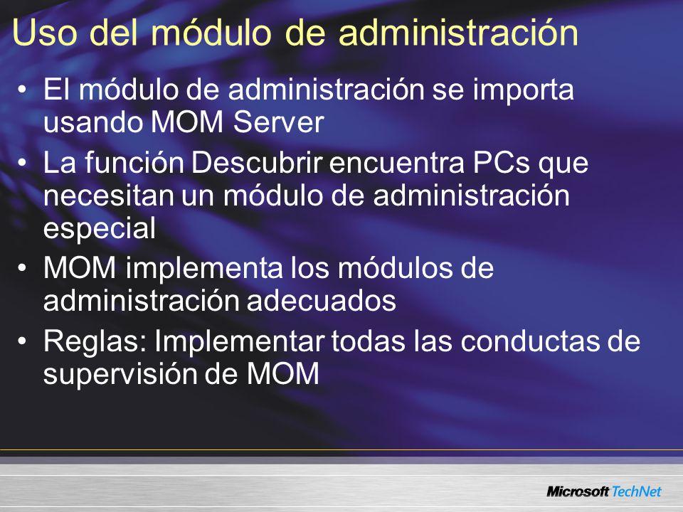 Uso del módulo de administración