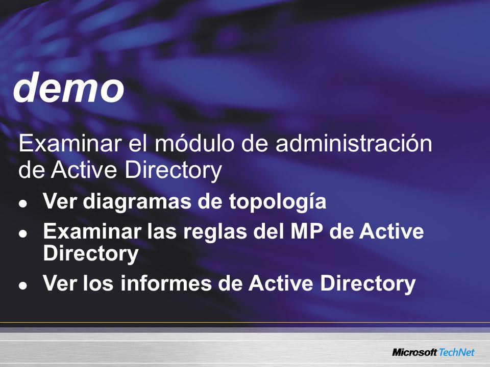 demo Examinar el módulo de administración de Active Directory
