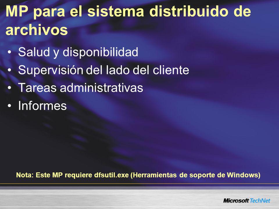 MP para el sistema distribuido de archivos