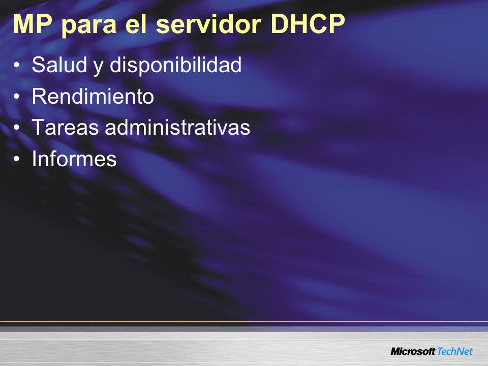 MP para el servidor DHCP