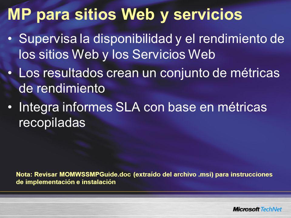 MP para sitios Web y servicios