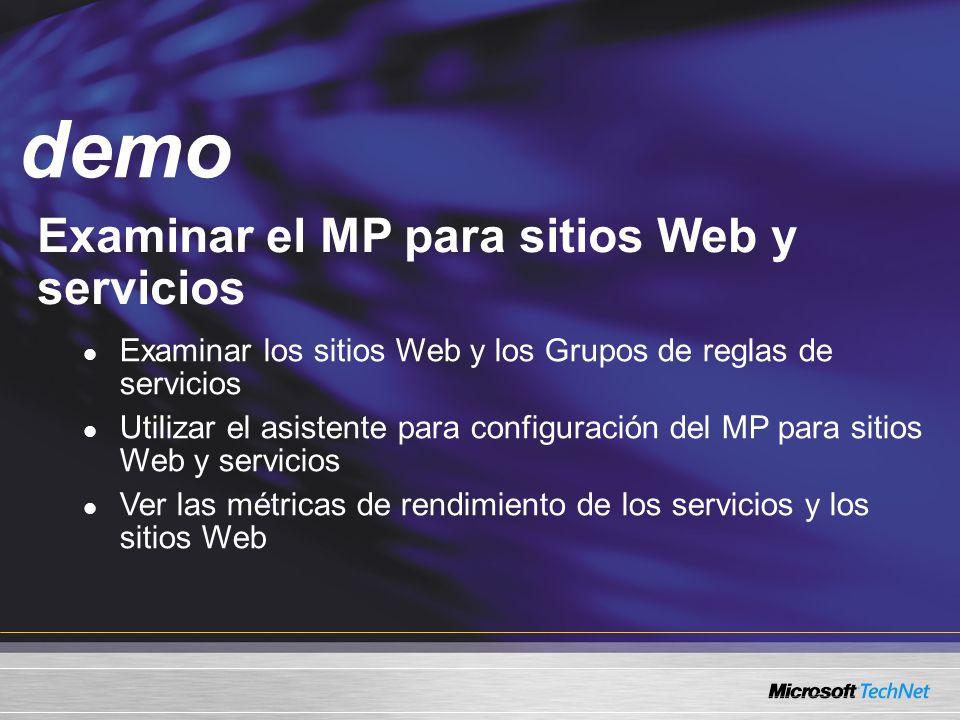 demo Examinar el MP para sitios Web y servicios