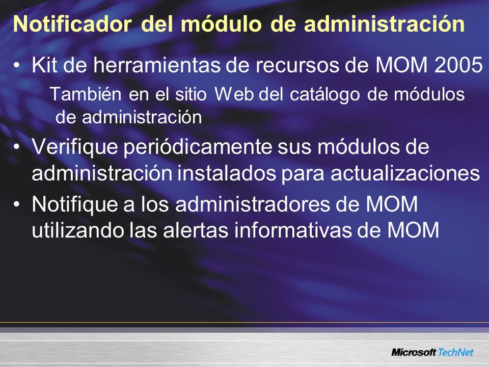 Notificador del módulo de administración