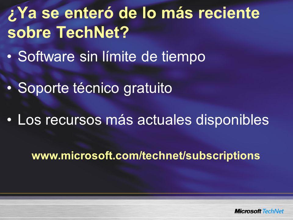 ¿Ya se enteró de lo más reciente sobre TechNet