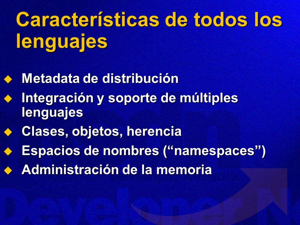 Características de todos los lenguajes