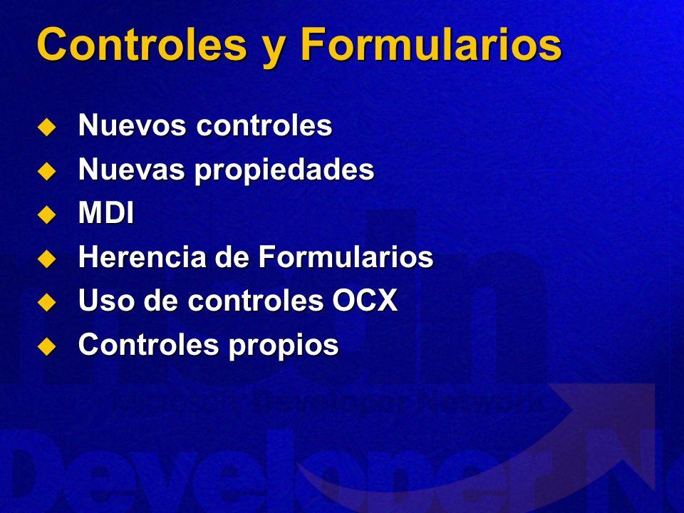 Controles y Formularios