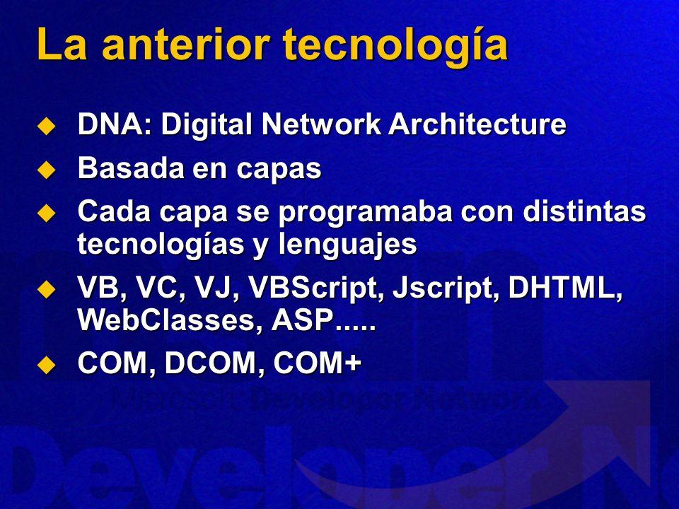 La anterior tecnología