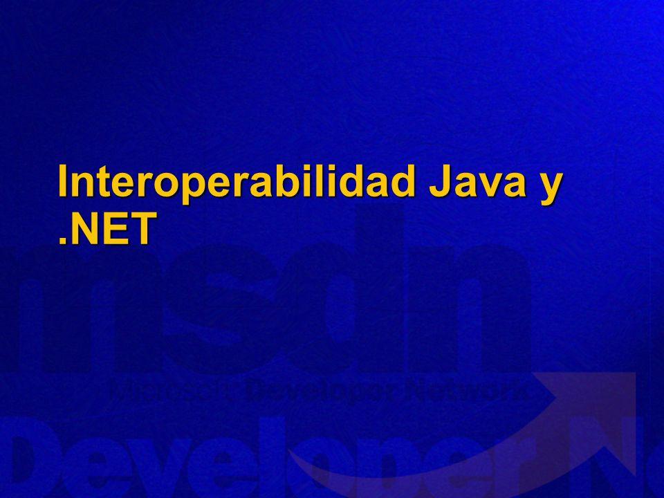Interoperabilidad Java y .NET
