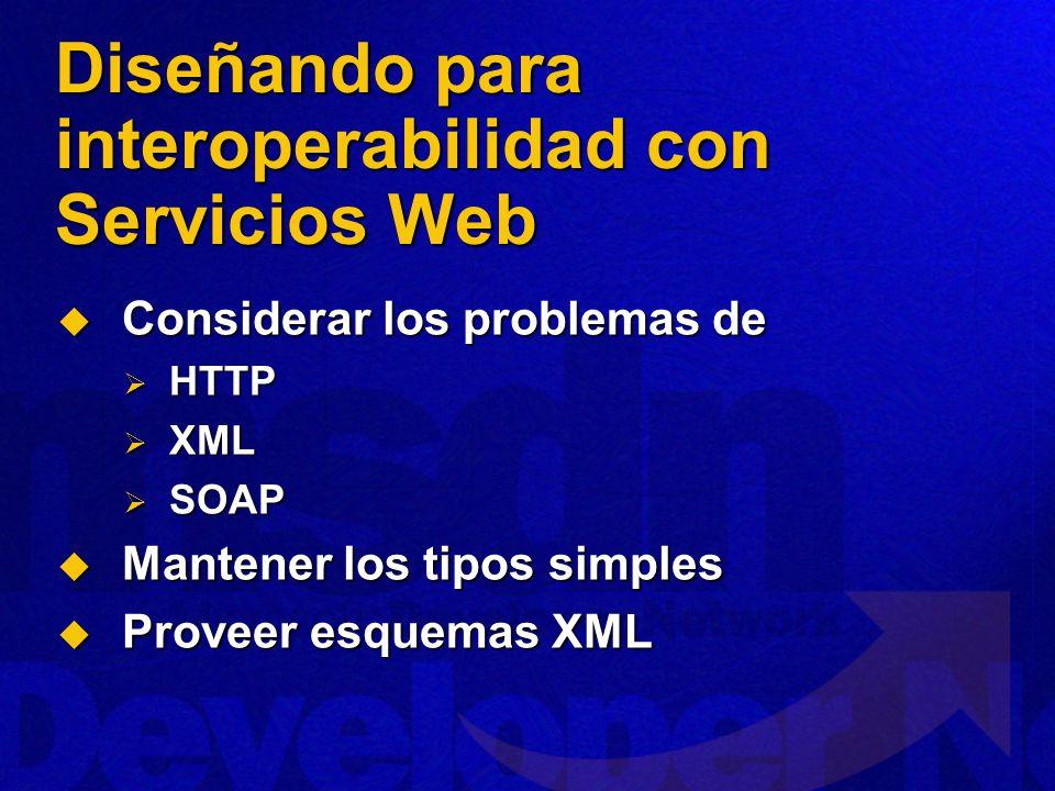 Diseñando para interoperabilidad con Servicios Web