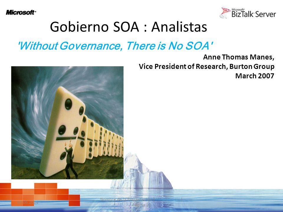 Gobierno SOA : Analistas