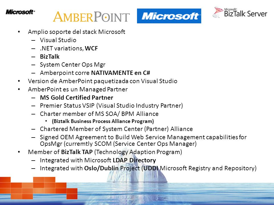 Amplio soporte del stack Microsoft Visual Studio .NET variations, WCF