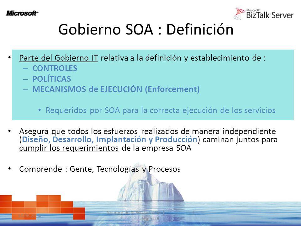 Gobierno SOA : Definición