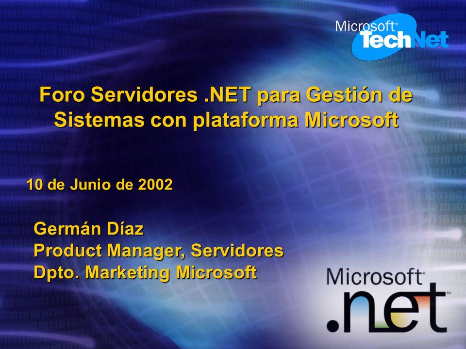 Foro Servidores .NET para Gestión de Sistemas con plataforma Microsoft