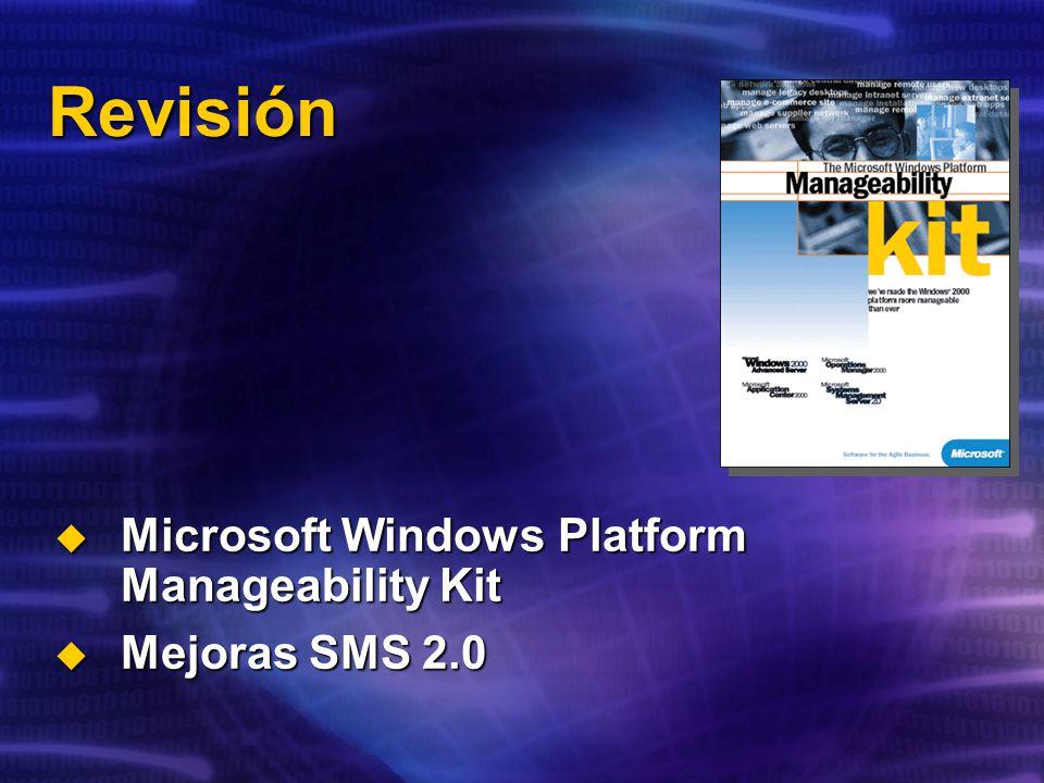 Revisión Microsoft Windows Platform Manageability Kit Mejoras SMS 2.0