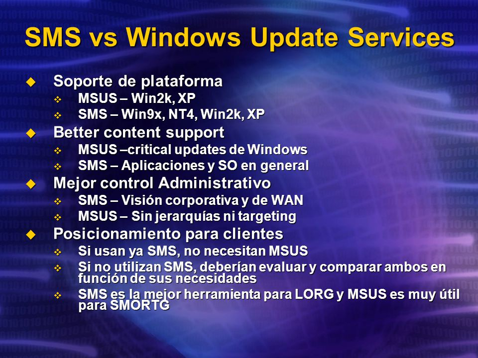 SMS vs Windows Update Services