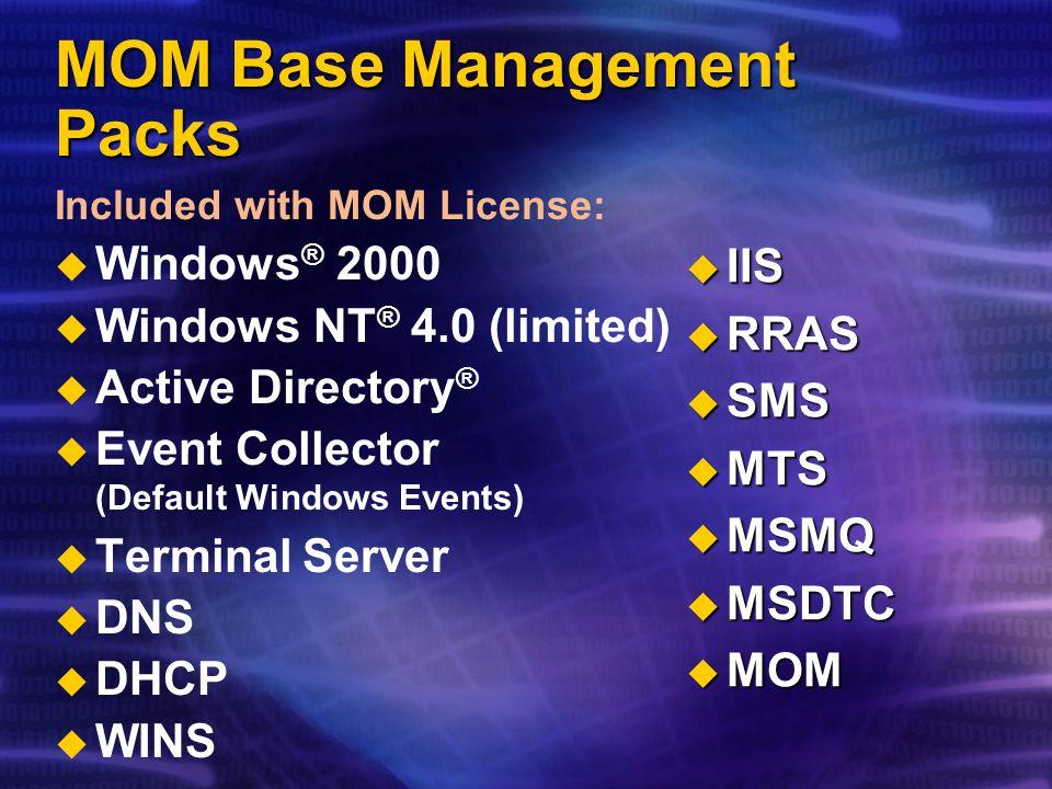 MOM Base Management Packs