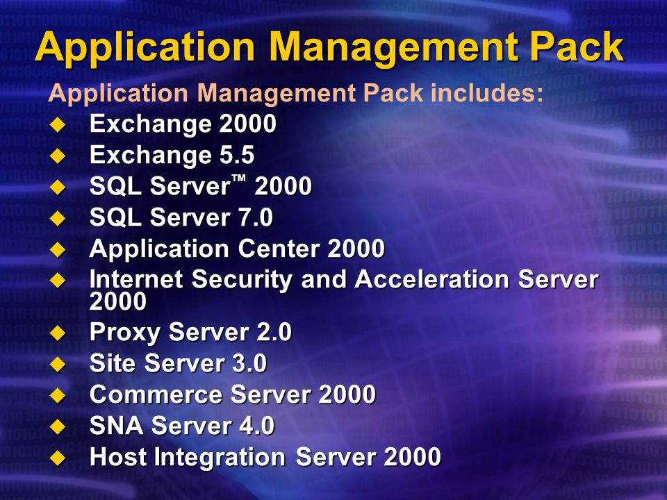 Application Management Pack