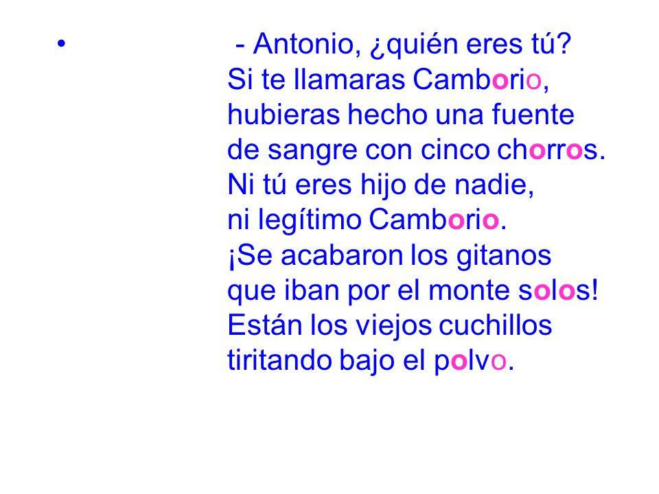 - Antonio, ¿quién eres tú