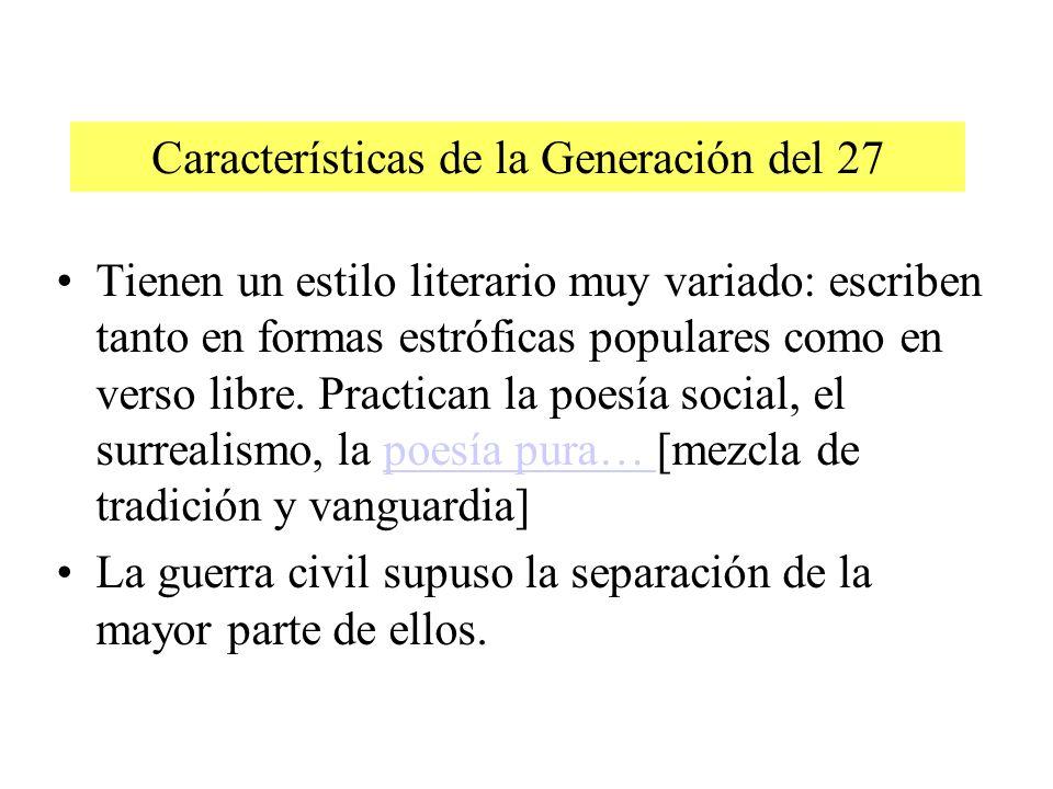 Características de la Generación del 27