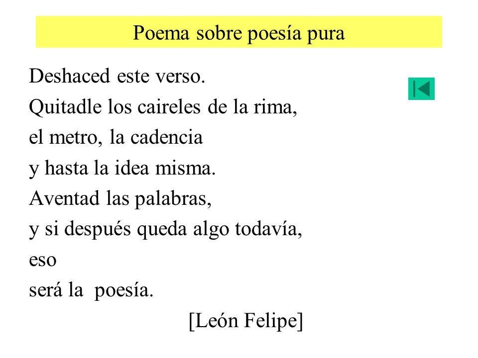Poema sobre poesía pura
