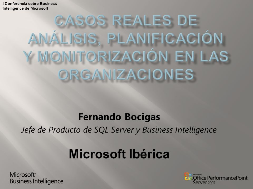 Jefe de Producto de SQL Server y Business Intelligence