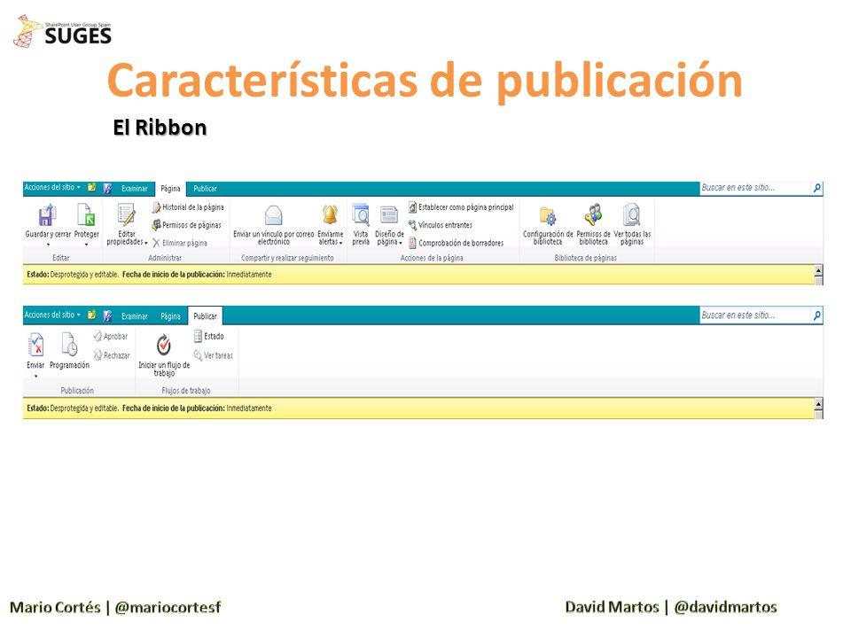 Características de publicación