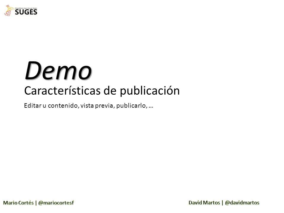 Demo Características de publicación