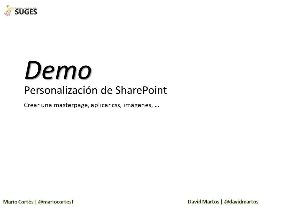 Demo Personalización de SharePoint