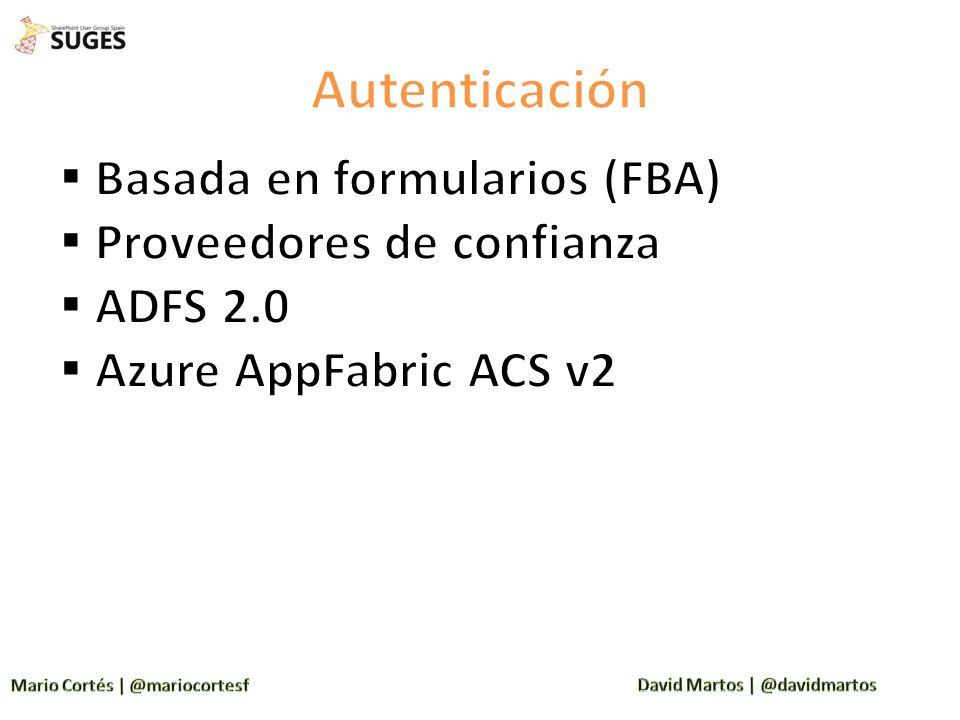 Autenticación Basada en formularios (FBA) Proveedores de confianza
