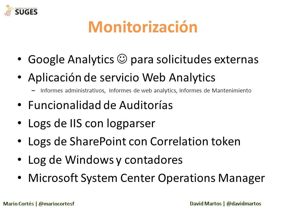 Monitorización Google Analytics  para solicitudes externas