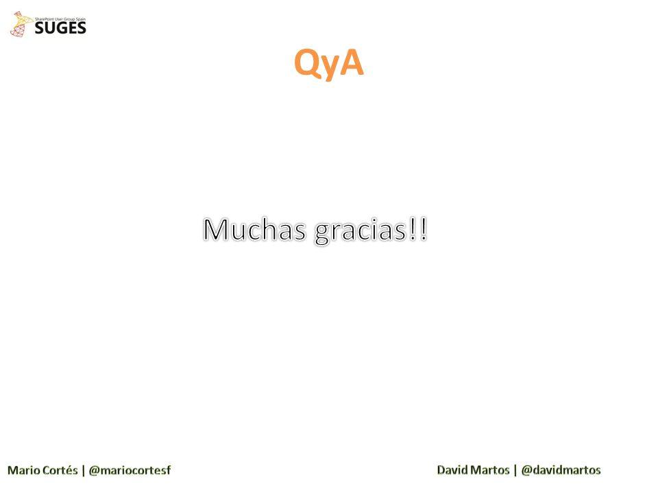 QyA Muchas gracias!!
