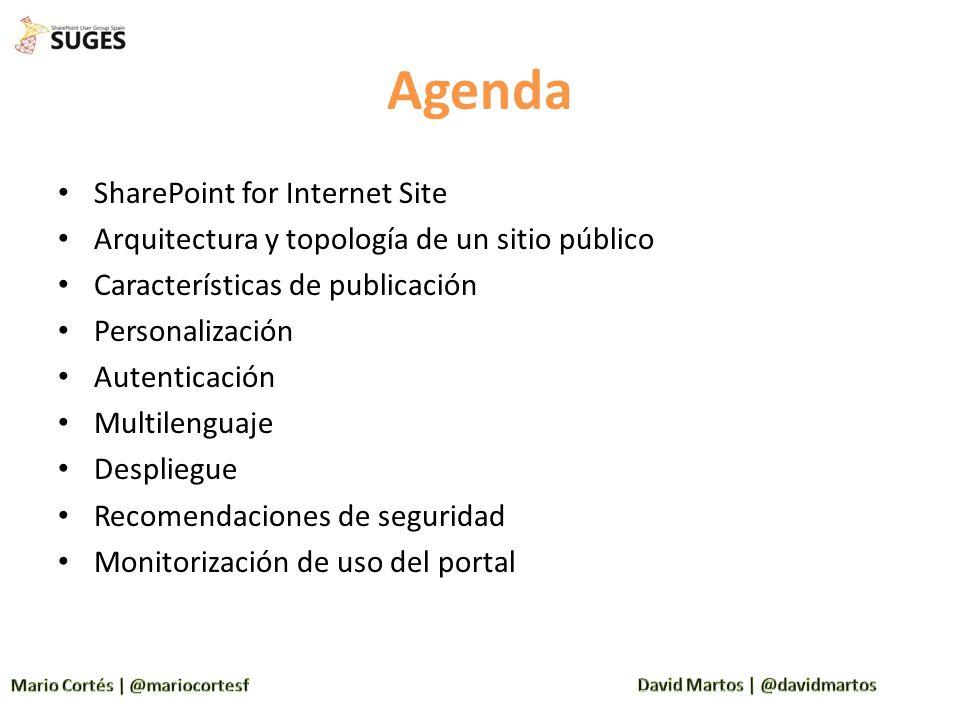 Agenda SharePoint for Internet Site