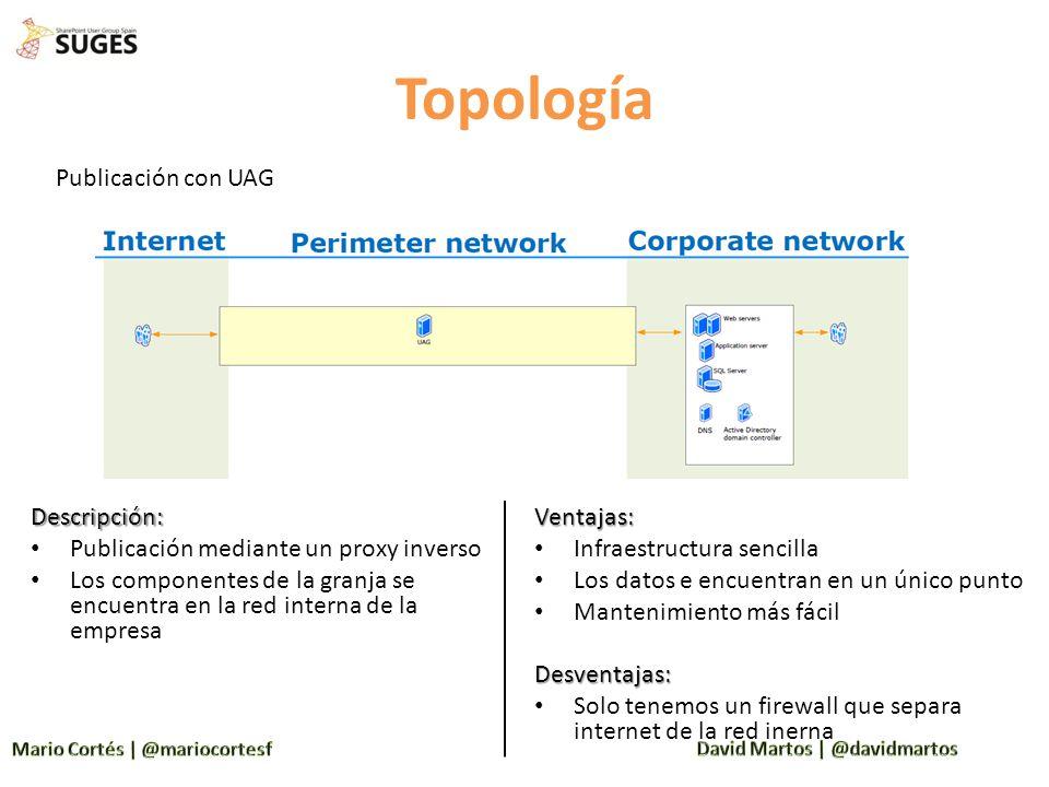 Topología Publicación con UAG Descripción: