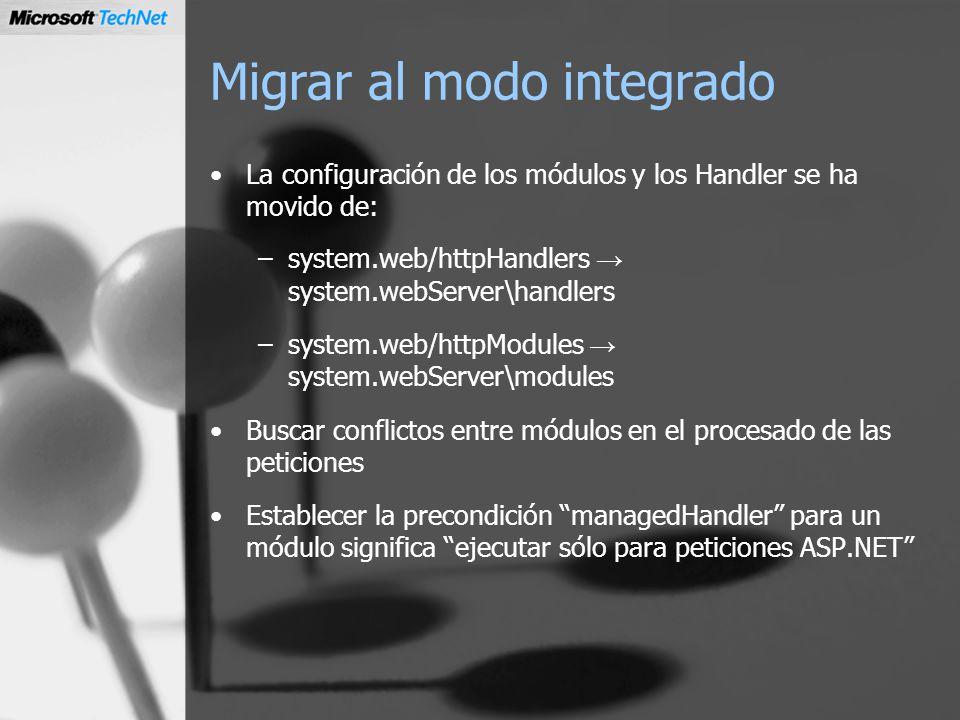 Migrar al modo integrado