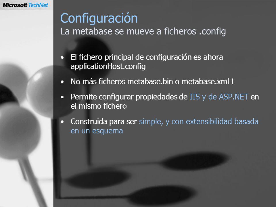 Configuración La metabase se mueve a ficheros .config