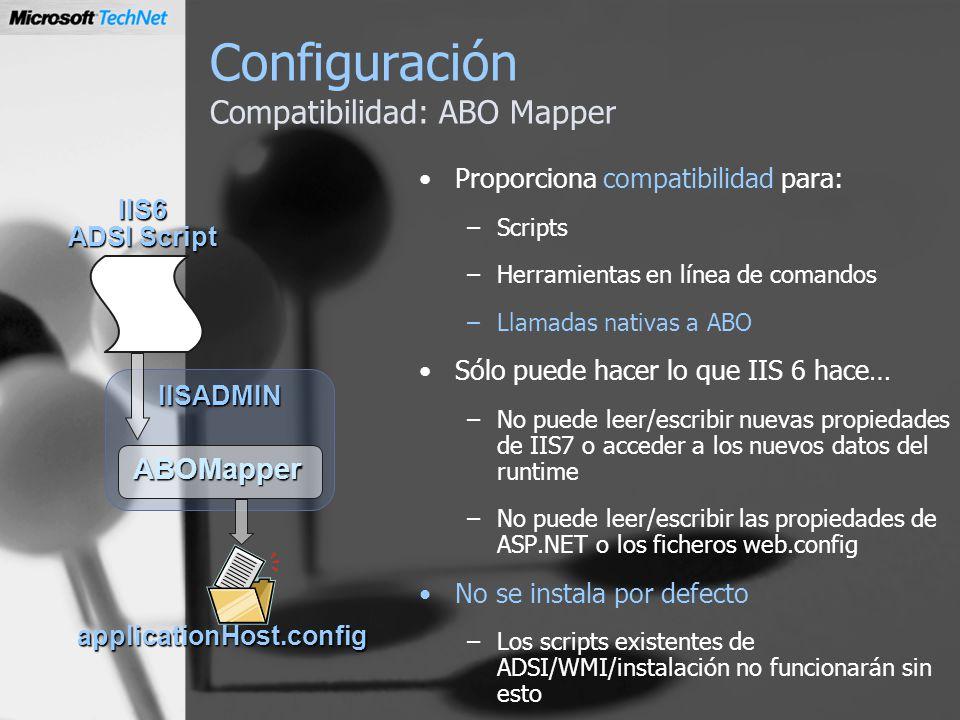 Configuración Compatibilidad: ABO Mapper