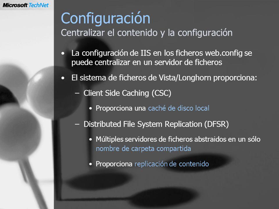Configuración Centralizar el contenido y la configuración