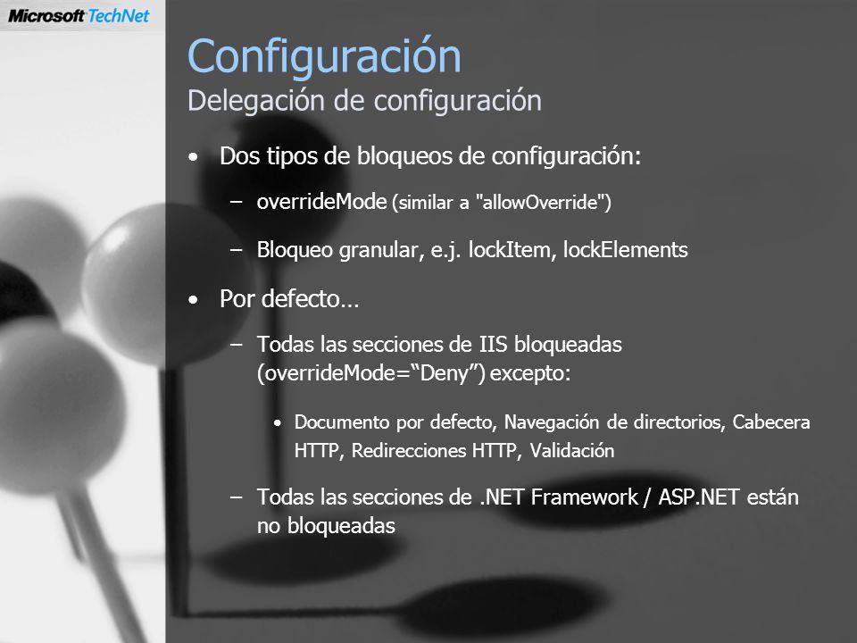 Configuración Delegación de configuración