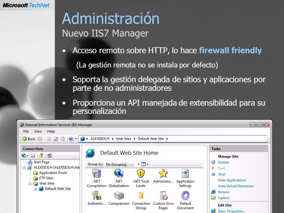 Administración Nuevo IIS7 Manager