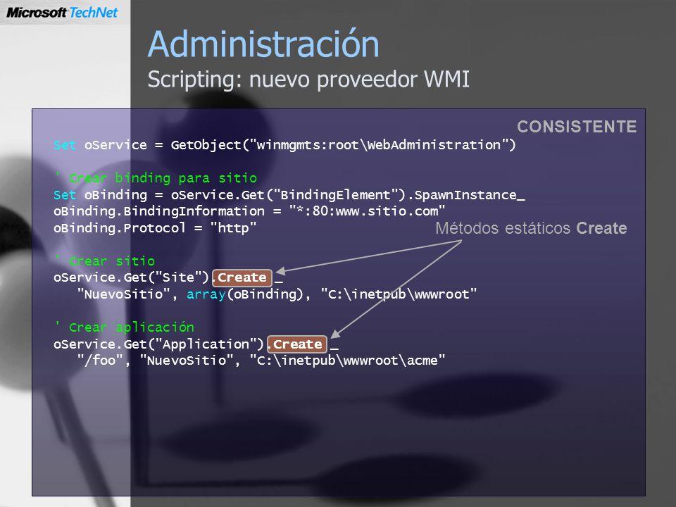 Administración Scripting: nuevo proveedor WMI