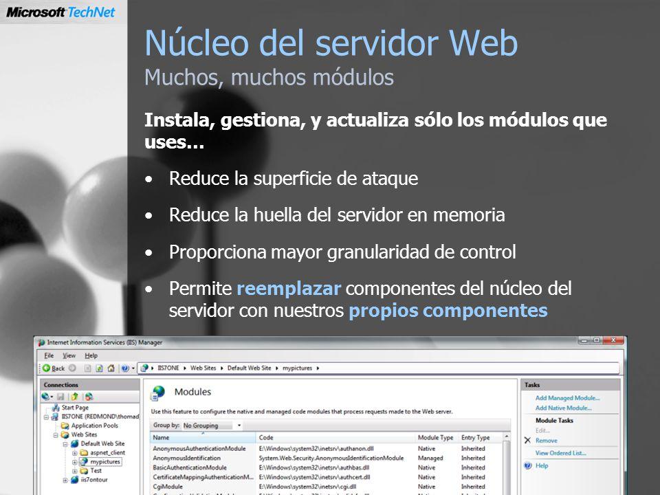 Núcleo del servidor Web Muchos, muchos módulos